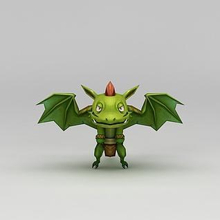 花千骨游戏飞蛙小怪3d模型