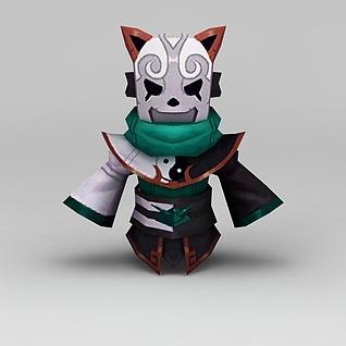 花千骨游戏角色3d模型