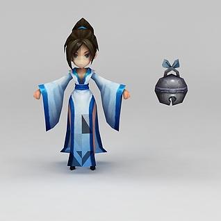 花千骨游戏人物3d模型