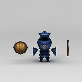 花千骨游戏盔甲装备模型