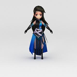 花千骨游戏美女角色3d模型