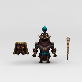 游戏道具盔甲模型