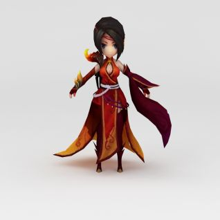 花千骨游戏人物美女3d模型