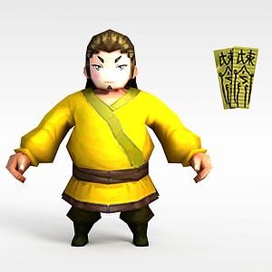 花千骨游戏人物模型3d模型