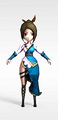 游戏人物365娱乐游戏美女模型3d模型