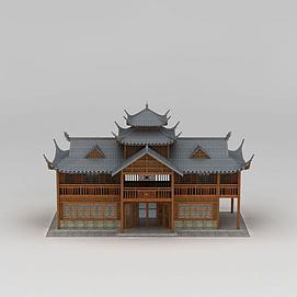 古建酒馆3d模型