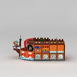 儿童乐园海盗船模型