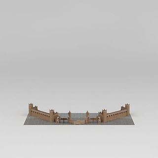 羌族建筑大门3d模型