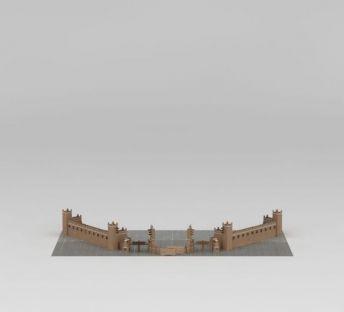 羌族建筑大门