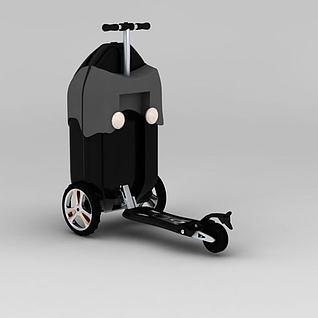 行李箱密码箱3d模型