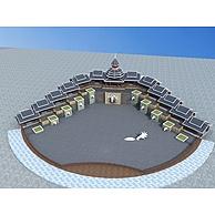 苗族塔楼景观3D模型3d模型