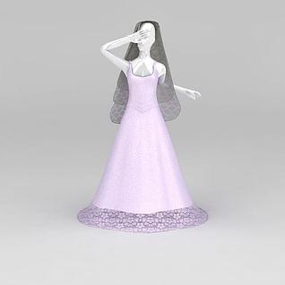 婚纱模特道具3d模型