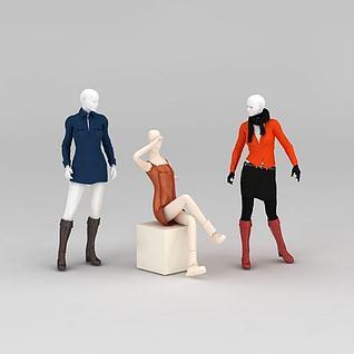 服装模特道具3d模型
