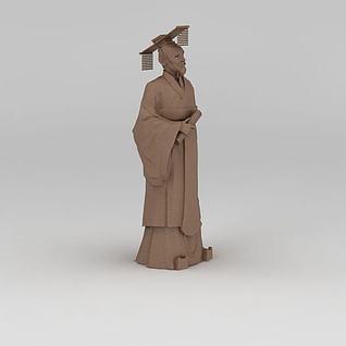 帝王雕塑3d模型