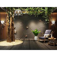 日式禅意墙休闲椅组合3D模型3d模型