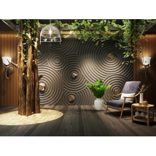 日式禅意墙休闲椅组合3d模型