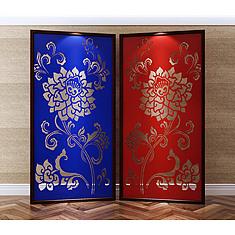 中式传统风格雕花屏风3D模型3d模型