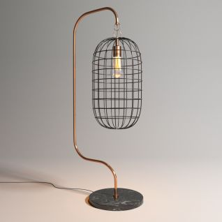 工业风铁艺台灯3d模型