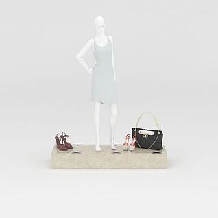 服装店模特架3d模型