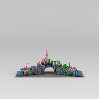 海底世界游乐园大门3d模型