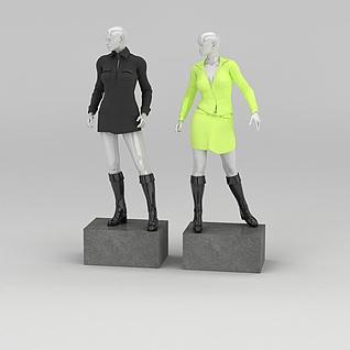 女装模特道具3d模型