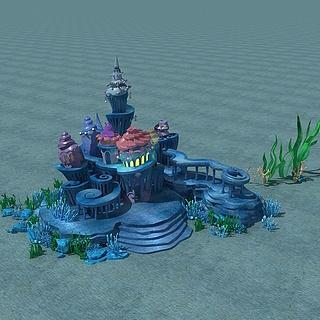 海底城堡3d模型
