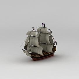 3d英国<font class='myIsRed'>帆船</font>模型摆件模型