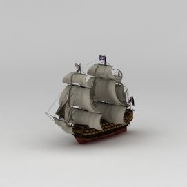 英国<font class='myIsRed'>帆船</font>模型摆件3d模型