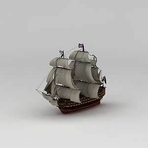 3d英國<font class='myIsRed'>帆船</font>模型擺件模型