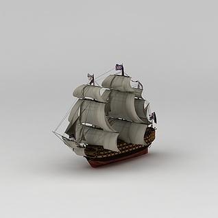 英国帆船模型摆件3d模型