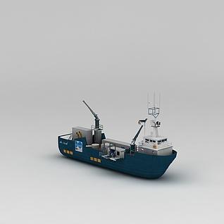 小拖轮3d模型