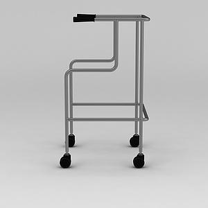 四轮助行器模型