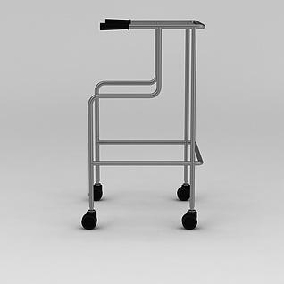 四轮助行器3d模型