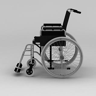 医用轮椅3d模型