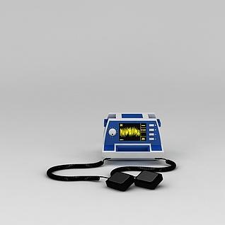 除颤器3d模型3d模型