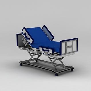 多功能护理床3d模型3d模型