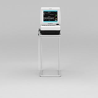 医用监护仪3d模型