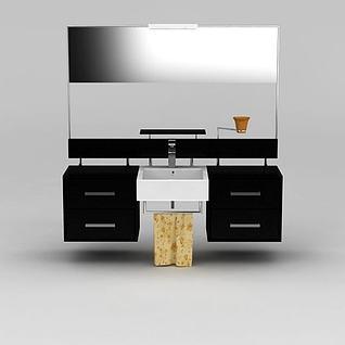 浴室镜柜3d模型
