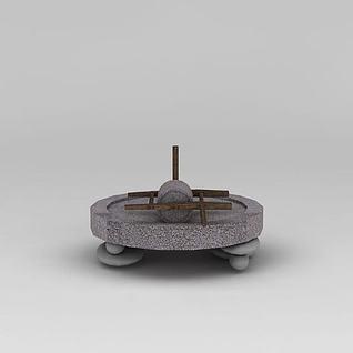 农家石磨3d模型