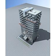 高层办公楼3D模型3d模型