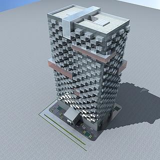 高层办公楼3d模型