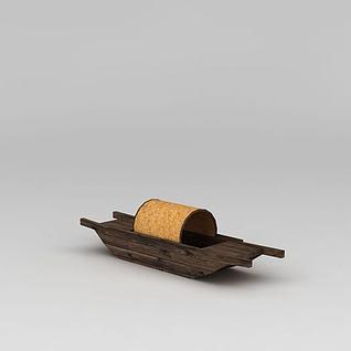 古代渔船3d模型