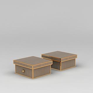 高档鞋盒3d模型