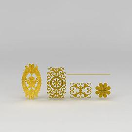 欧式精美雕花构件模型