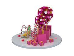 精美礼物盒模型3d模型