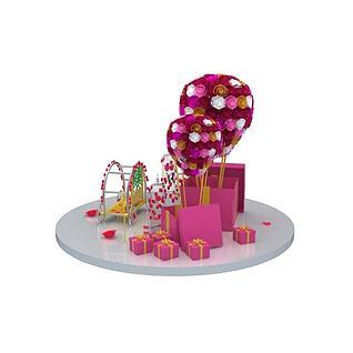 精美礼物盒3d模型