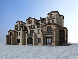 联排别墅3d模型