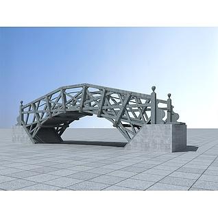 朴实的钢架桥3d模型