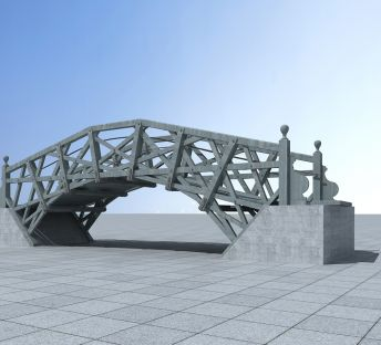 朴实的钢架桥