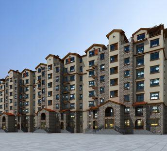 联排多层建筑